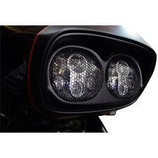 Griglie x Dual Fari Neri Moto Harley Davidson FLTR/X 98-13 Bobber Custom Chopper