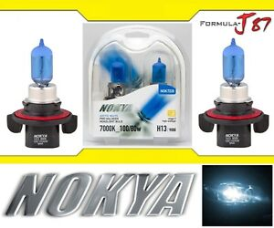 Nokya-7000K-White-9008-H13-Nok7228-100-80W-Two-Bulbs-Head-Light-Replace-High-Low