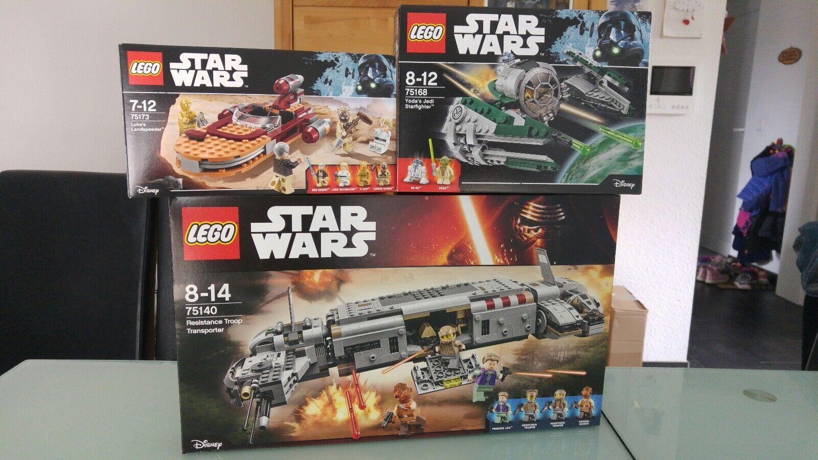 Lego Star Wars 75140, 75168, 75173