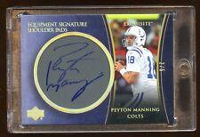 2005 EXQUISITE PEYTON MANNING AUTO /5 *SHOULDER PADS* AUTOGRAPH  AMAZING CARD  !