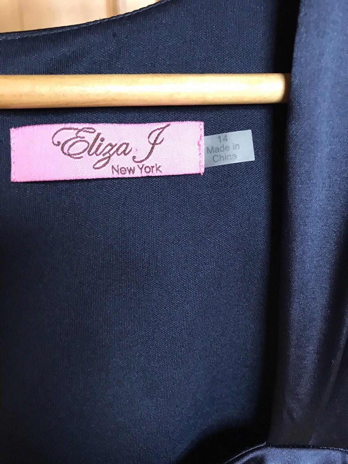 NUOVO senza etichette abito da sera sera sera SZ UK10 Eliza New York Navy J (prezzo consigliato ) cocktail matrimonio 37762b