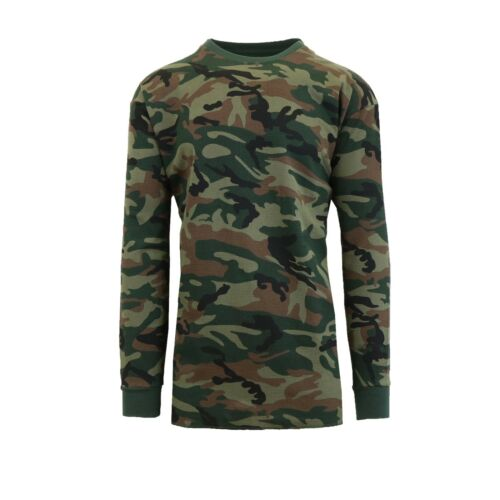 Crew Neck Layering Color /& Size NEW Men/'s Long Sleeve Waffle Thermal Shirt Tee