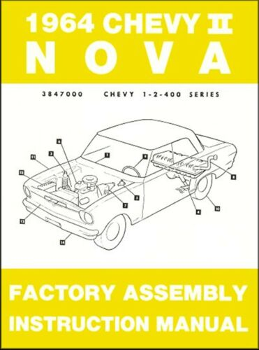 1964 Chevy II Nova Factory Assembly Instruction Manual