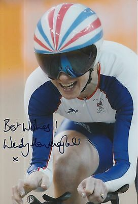 Collection Here Wendy Houvenaghel Hand Signed Olympics 12x8 Photo Other Olympic Memorabilia With A Long Standing Reputation