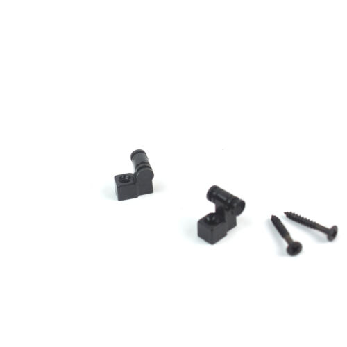 Roller String Retainer Guide Fits Most Electric Guitar set of 2 Black