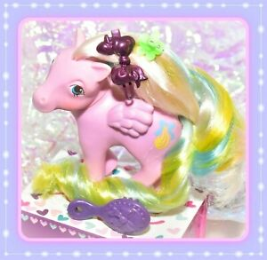 My-Little-Pony-MLP-G1-Vtg-Brush-n-Grow-Curly-Locks-Long-Hair-Pink-Pegasus