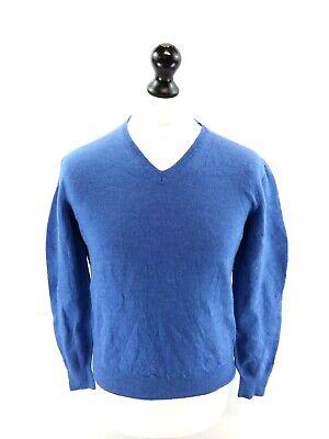 Calvin Klein Ragazzi Maglione Pullover Xl Ragazzi Blu Lana Merino-mostra Il Titolo Originale