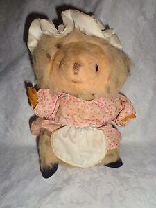 "Vintage Eden Mrs Tiggy Beatrix Potter Hedgehog 10"" Plush Soft Toy Stuffed Animal"