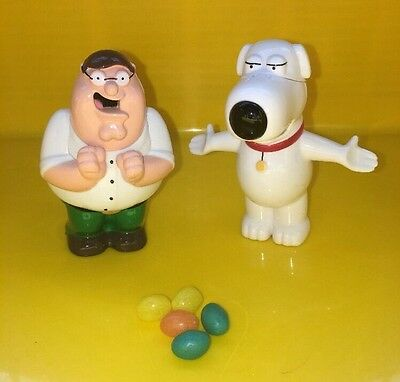 Family Guy Poppers Peter Griffin and Brian Griffin As Seen on FOX TV Jelly Bean