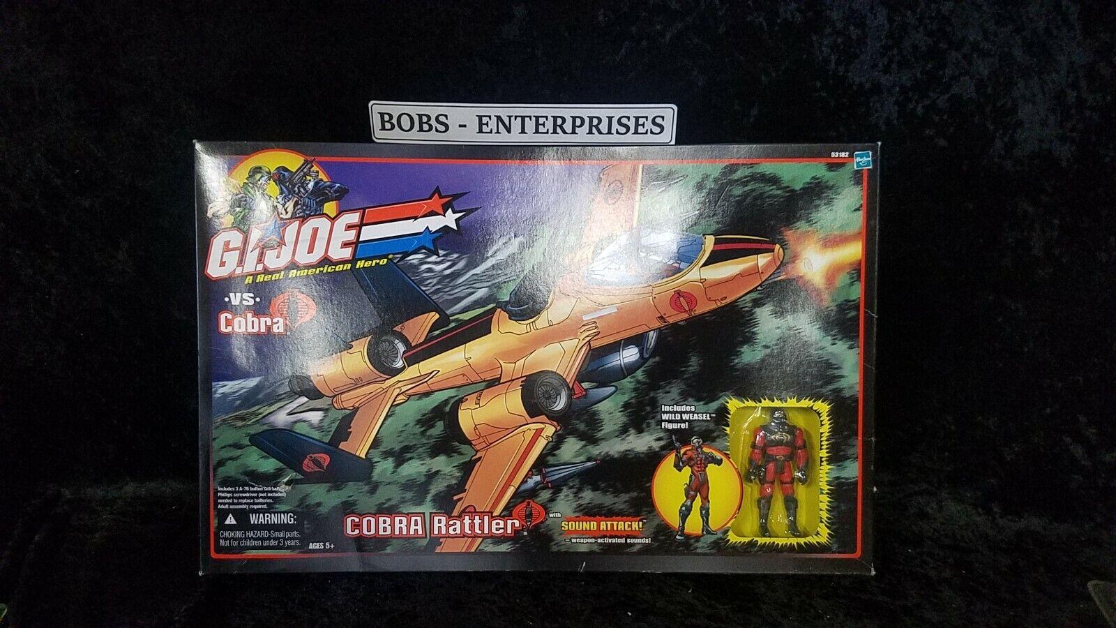Gi Joe Vs Cobra Rattler Wild Weasel Juguetesrus exclusivo avión con-nuevo en paquete SB-33