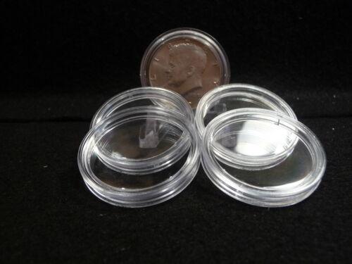 KENNEDY HALVES pkg of 5 #1 COIN CAPSULES   31 mm U.S