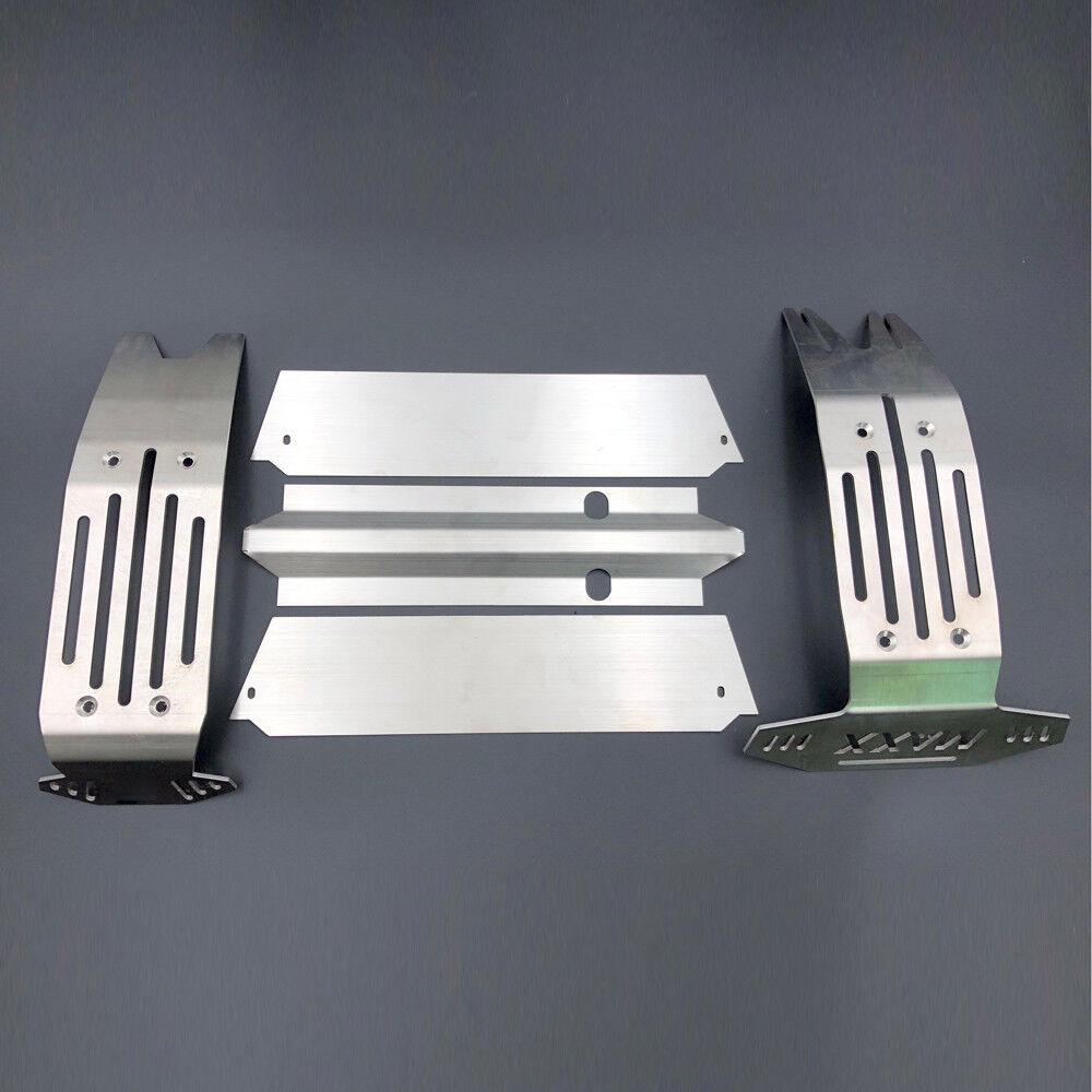 5pcs   setzen metall unterbodenschutzblech chassis beschtzer rstung fr traxxas x-maxx 1   5. rc - car
