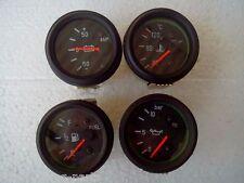 2 52mm Electrical Temp Oil Pressure Fuel Amp Gauge Black