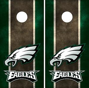Philadelphia Eagles Cornhole Board Decal Wrap Wraps | eBay
