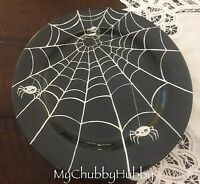 Pottery Barn Kids Spiderweb Melamine Charger Plate (1) Halloween 2016