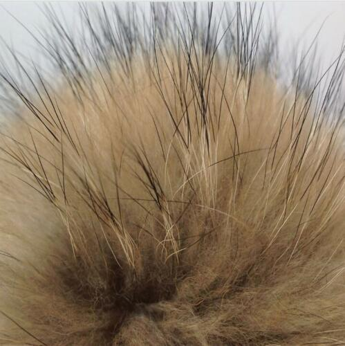 2x 10cm Faux Raccoon Fake Fur Hair Ball Fluffy Pompom Hat Bag Cap Shoes Pendants