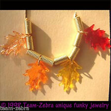 Funky OAK LEAF LEAVES NECKLACE Fall Tree Thanksgiving Novelty Costume Jewelry