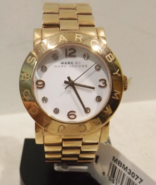 Marc Jacobs Watches -Damen  Armbanduhr MBM 3077 gelbgold 36mm Quarz mit Ständer