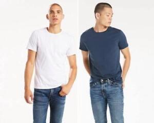 And Tee Mens Crewneck Fit WhiteEbay Shirt2‑packNavy Slim Levi's WEYHI29D