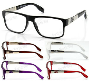 DG-Clear-Lens-Frame-Glasses-Designer-Optical-RX-Womens-Mens-Nerd-Fashion-Square