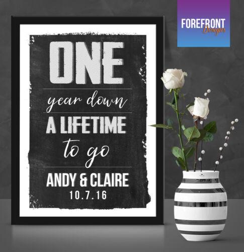perfect 1 year engagement//anniversary Personalised Anniversary gift//keepsake