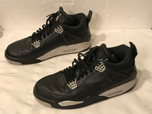 b07dc52f3792e Nike Air Jordan 4 IV Retro LS Oreo Black/tech Grey Aj4 314254-003 Sz 10