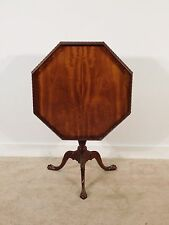 BAKER Furniture Company Historic Charleston Mahogany Tilt Top Tea Table