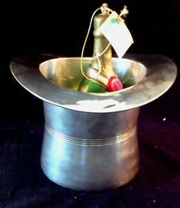Vintage Art Deco Silver Plate Top Hat Cham pagne Ice Bucket | eBay