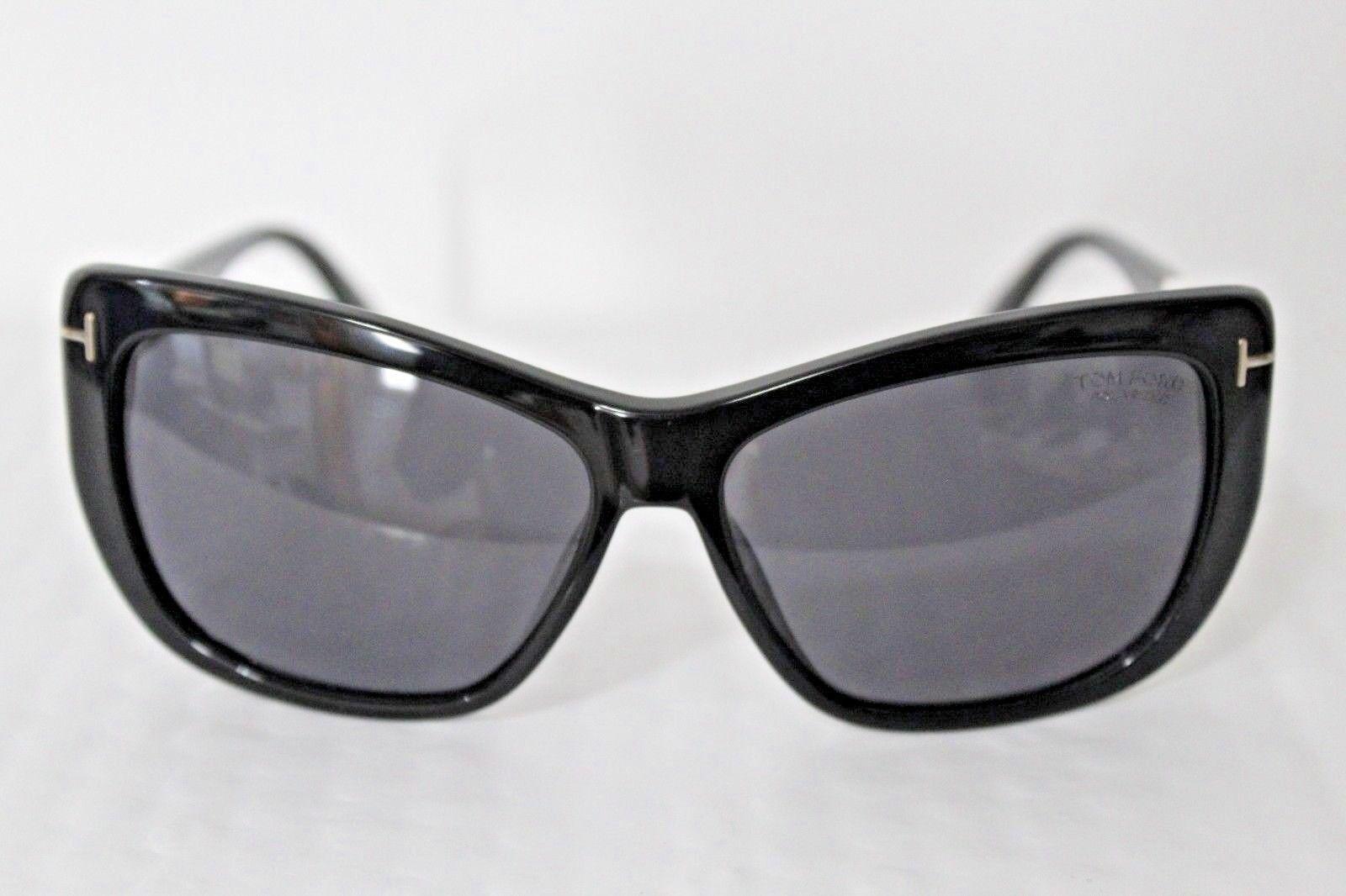 ca419682fd Tom Ford Lindsay TF 434 01d Shiny Black Cat-eye Sunglasses ( )