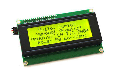 Yellow Green Serial IIC/I2C/TWI 2004 LCD 20X4 Character LCD Module For Arduino