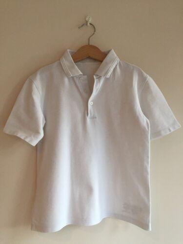 senza cuciture ed etichetta Marks /& Spencer 8-9 anni Ragazzo//Ragazza Polo Top Pelle Bianca tipo