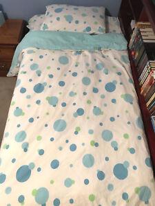 Lot Pottery Barn Teen Bedding Pb Twin Set Bubble Dot Comforter