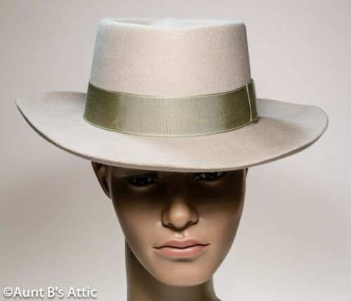 Gambler Hat Tan Wool Felt Men/'s Western Style 19th Century Riverboat Gambler