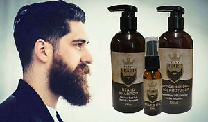 By My Beard Shampoo + Conditioner + Oil, Gift Pack, Clean Soft Manageable Hair 5025416030422