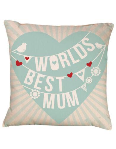 Worlds Best MumCoussin Cadeau personnalisé fête des mèresAnniversaire