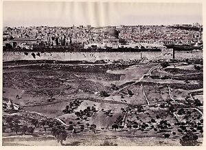 Gerusalemme Israele Palestina Foto Albumina Stampa Verso 1880