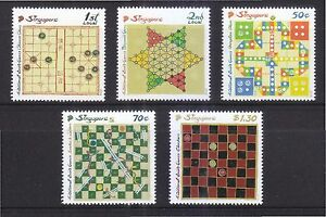 SINGAPORE-2016-TRADITIONAL-BOARD-GAMES-COMP-SET-OF-5-STAMPS-IN-MINT-MNH-UNUSED