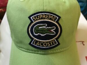 4ac2d100 Supreme LACOSTE Twill 6-Panel Green Cap Hat New SS18 Authentic | eBay