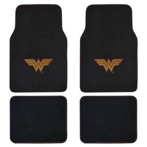 Dc Comics Wonder Woman Car Floor Mats 4 Piece Carpet