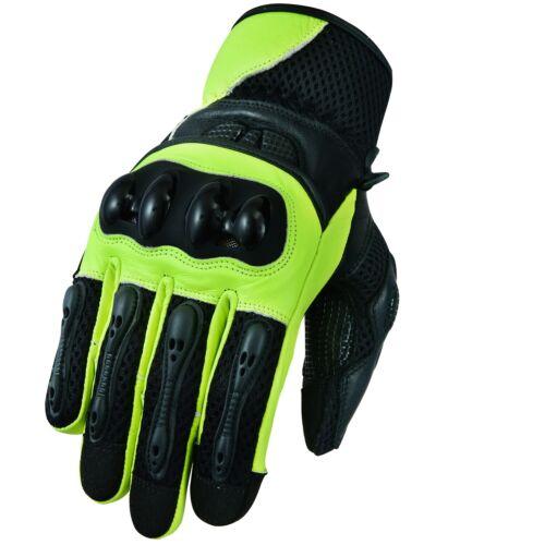 Sport Motorrad Handschuhe Vollfinger Sommer Leder Gloves Gr S M L XL /& 2XL.