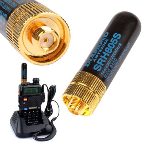 SRH805S SMA-F Female Dual Band Antenna for Baofeng GT-3 UV-5R BF-888s Radio 5CM