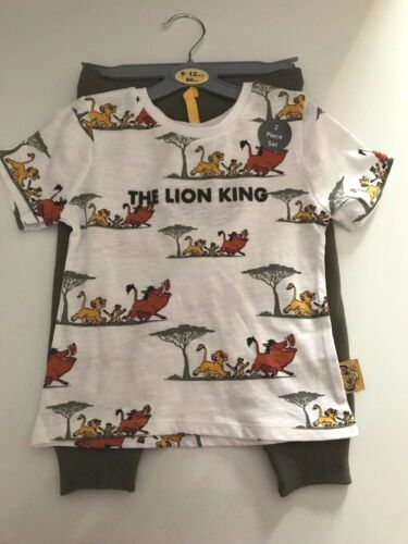 Brand New Disney Primark Lion King Baby Clothing Track Bottom and T-Shirt