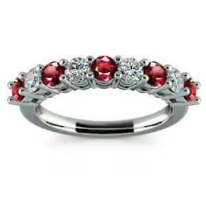 Red-White-Round-Cut-Woman-Gift-Engagement-Ring-Wedding-Band-925-Sterling-Silver