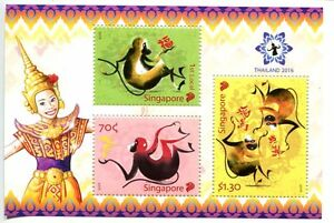 SINGAPORE-STAMP-2016-ZODIAC-SERIES-MONKEY-M-S-SHEET