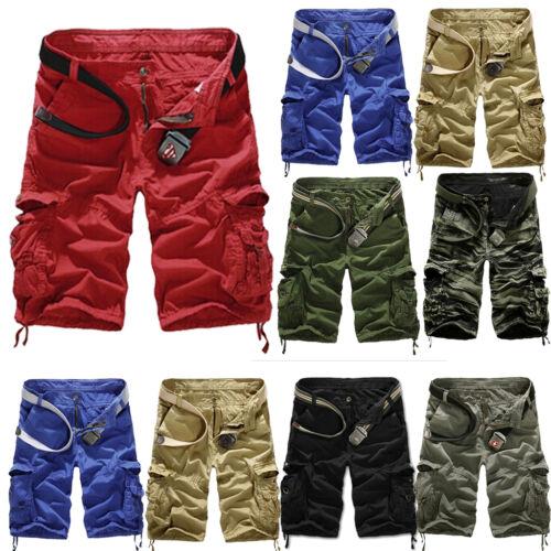Herren JoggingBermuda Combat Cargo Freizeit Short Sports Kurzehose Sommer Hosen