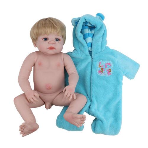 """Full Body Silicone Reborn Boy Dolls Realistic Newborn Baby 22/"""" Lifelike Toddler"""