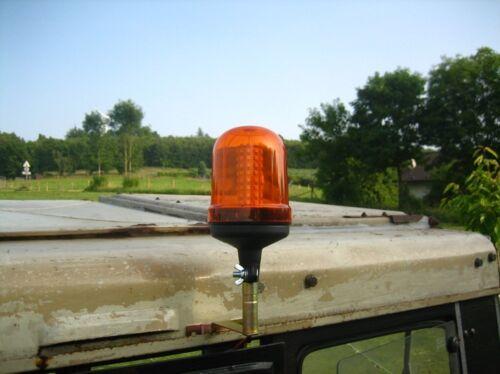 Rundum Kennleuchte Signal Warnleuchte Blinklicht LED Lampe Leuchte 12//24V NEU