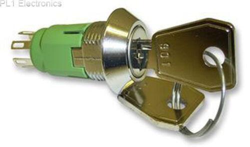 Lorlin-irl-5-m-d-2 - Keyswitch, Dpdt, forma cónica Bisel, Diff clave