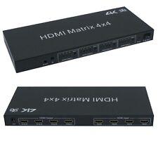 HDMI 4x4 Matrix with IR Remote Control Extension, 3D