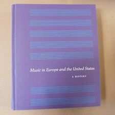 books MUSIC IN EUROPE AND THE UNITED STATES a history, Edith Barroff